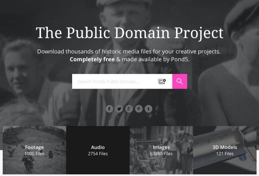 Pond5 website screenshot