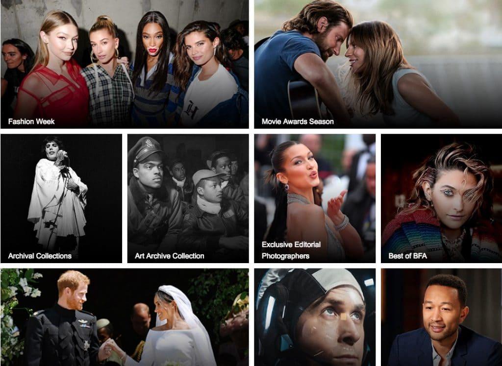 Shutterstock screenshot historische afbeeldingen